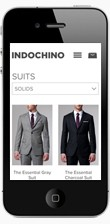 Indochino suits collection page