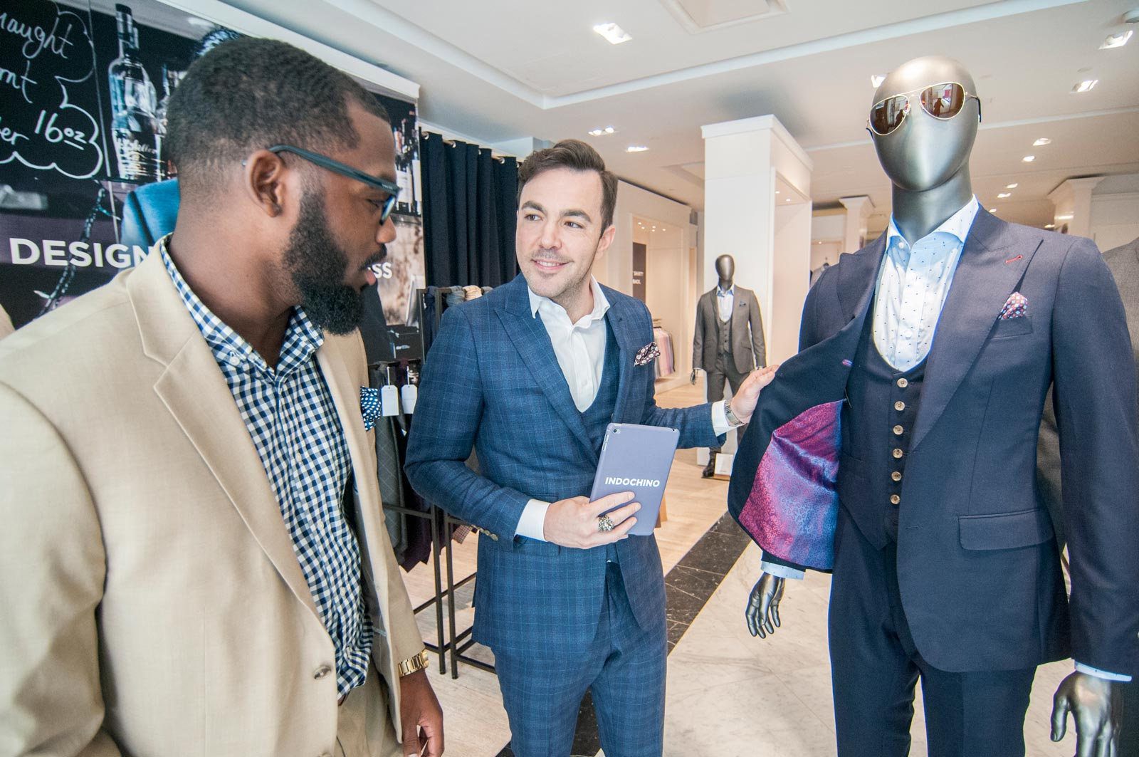 An INDOCHINO syle guide at work in our King of Prussia showroom.