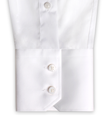 A two button angled INDOCHINO cuff.
