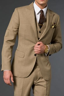 The Sandy Light Brown Suit