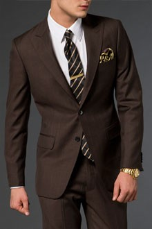 150b6fd230ee Mens Chocolate Brown Suit | My Dress Tip