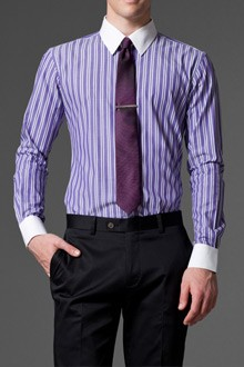 Playful purple striped dress shirt for Purple striped dress shirt