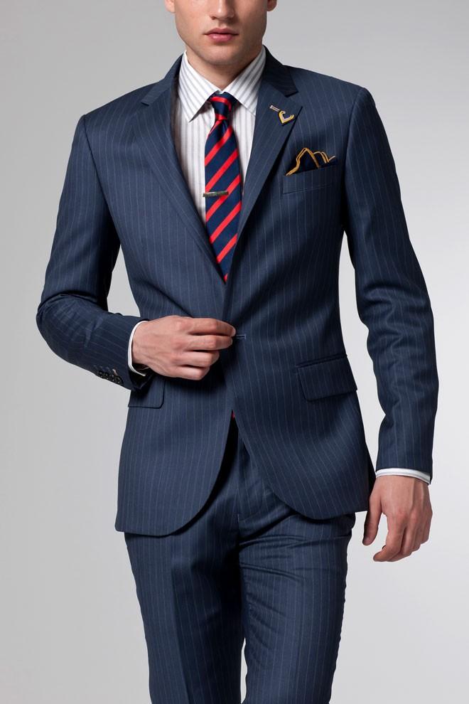 Black Shoes And Blue Suits