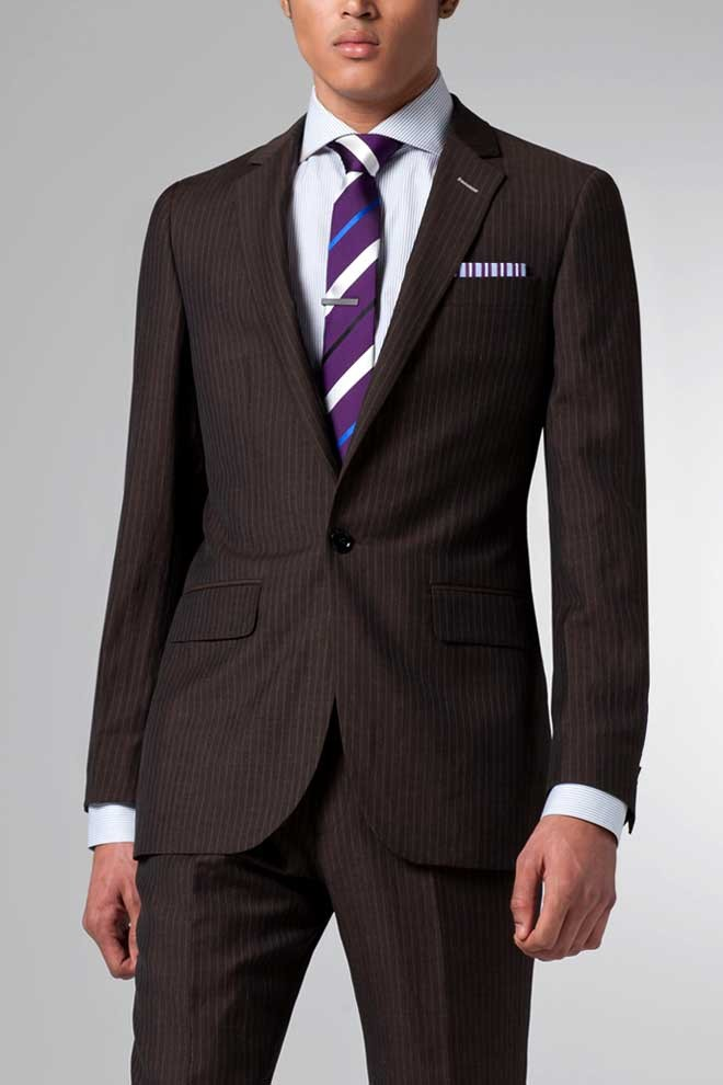 The Ultimate Brown Pinstripe Linen & Wool Suit