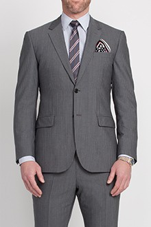 Steel Gray Mini Pinstripe Suit
