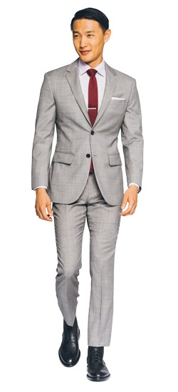 Essential Gray Sharkskin Suit