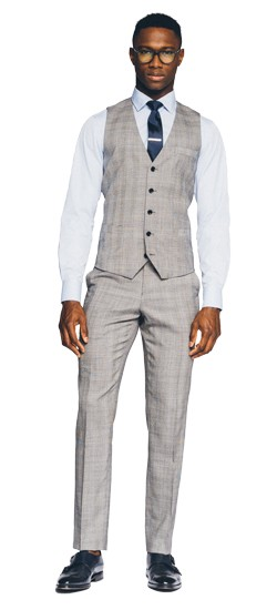 Essential Gray Prince of Wales Vest