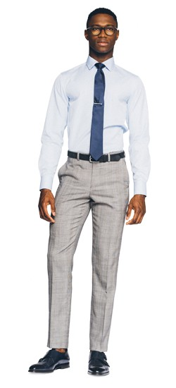 Essential Gray Prince of Wales Pants