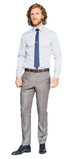 Premium Gray Sharkskin Pants