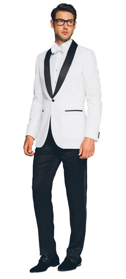 Premium Black and White Tuxedo