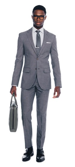 Ash Gray Twill Suit