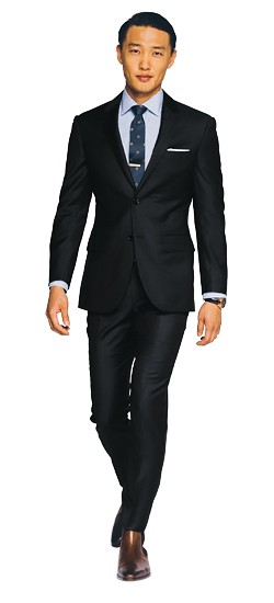 Charcoal Gray Fineline Twill Suit