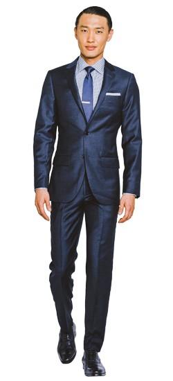 Navy Silk Blend Twill Suit
