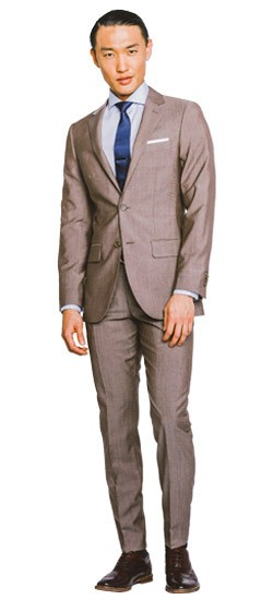 Deep Tan Sharkskin Suit