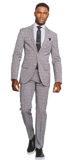 Black and White Glen Check Suit