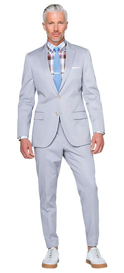 Pearl Gray Cotton Suit