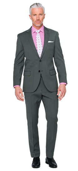 Granite Fineline Stripe Suit