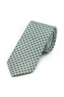 Silver Connect the Dots Tie