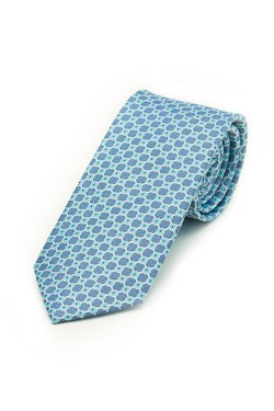 Blue Connect the Dots Tie