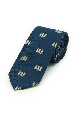 Navy Three Monkeys Tie