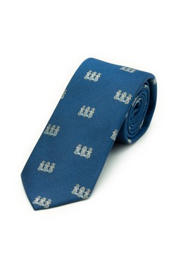 Blue Three Monkeys Tie