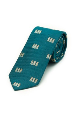 Teal Three Monkeys Tie