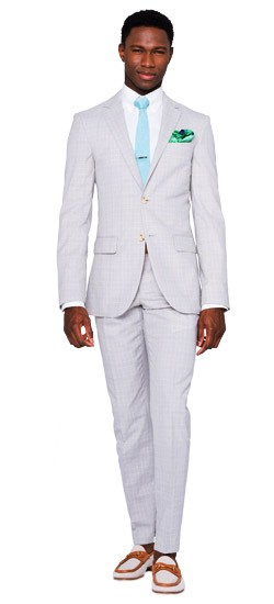 Stone Gray Prince of Wales Suit