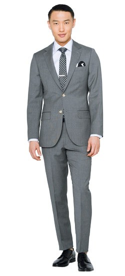Gray Fineline Suit
