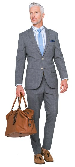 Charcoal Micro Houndstooth Suit