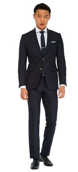 Bright Navy Check Suit