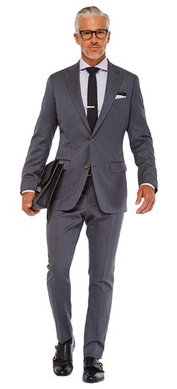 Charcoal Cavalry Twill Suit