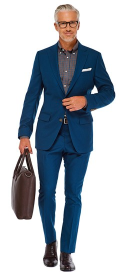 Teal Twill Suit