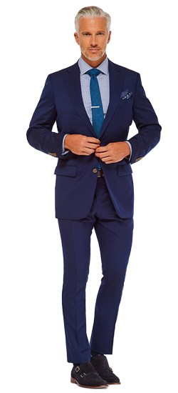 Bright Navy Twill Suit