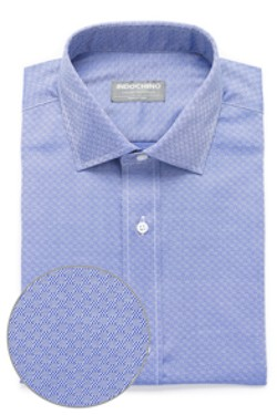 French Blue Tile Twill Shirt