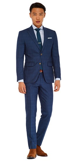 Indigo Glen Check Suit