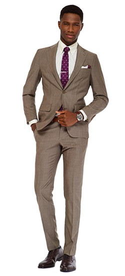 Sand Gray Sharkskin Suit