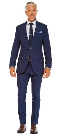 Deep Indigo Sharkskin Suit