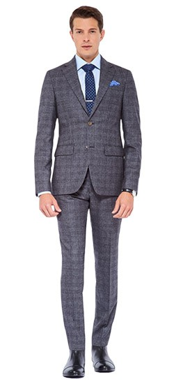 Granite Gray Check Suit