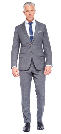 Charcoal Houndstooth Stretch Wool Suit