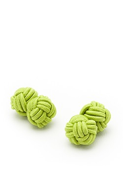 Lime Knot Cufflinks