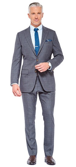 Charcoal Gray Glen Check Suit