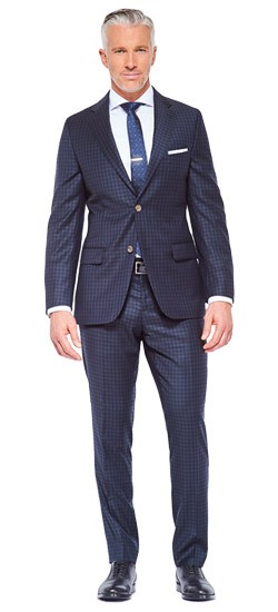 Midnight Double Check Suit