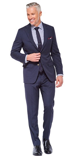 Navy Two-Color Fineline Suit