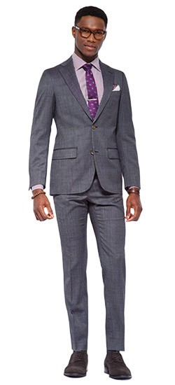 Charcoal Gray Birdseye Suit