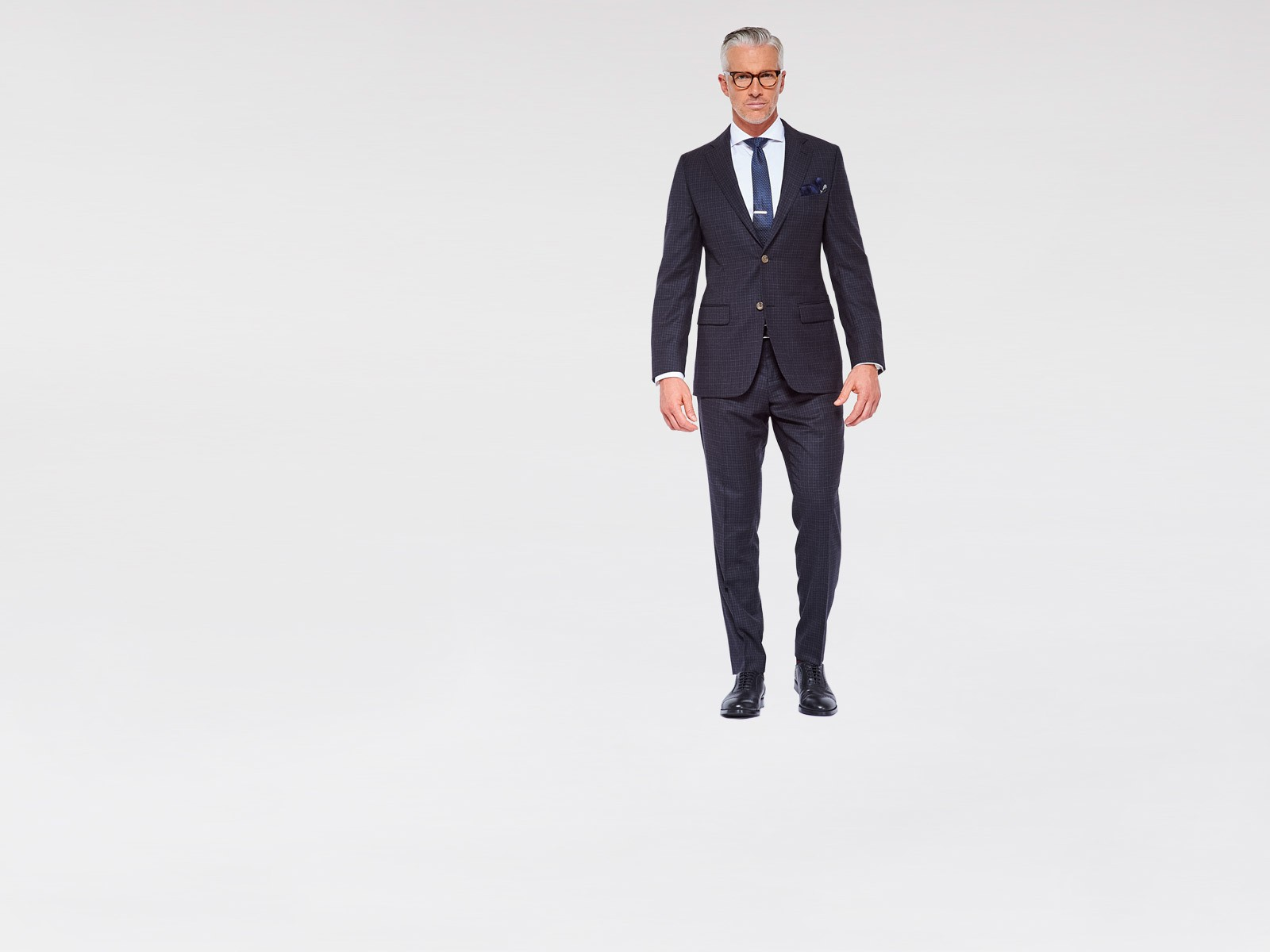 Charcoal Mini Double Check Suit
