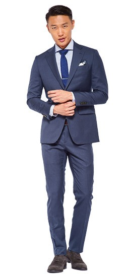 Washed Indigo Cavalry Twill Suit