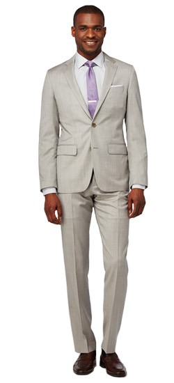 Men's Custom Suits - Light Gray Wool Suit | INDOCHINO