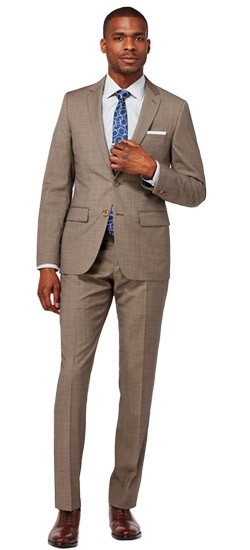 Espresso Micro Houndstooth Suit