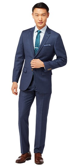 Indigo with Teal Overcheck Suit