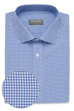 Blue Shadow Windowpane Check Shirt